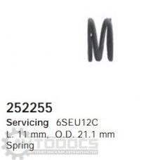 Пружина кондиционера 252255
